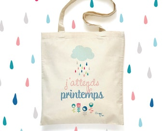 Tote Bag 'Spring' - cotton bag - 'Spring' Tote Bag cotton