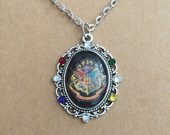 HP house necklaces, Harry Potter cameo necklace