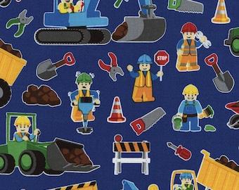Lego Fabric Construction Fabric Lego 100% Cotton Fabric Builder Fabric Prewashed