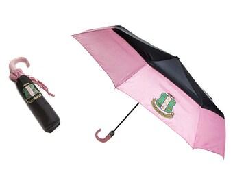 Alpha Kappa Alpha Crest Mini Black Top Umbrella