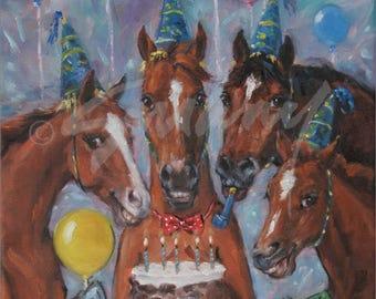 "Happy Birthday Card - ""The Birthday Party"" by Celeste Susany"
