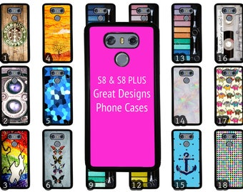 Great LG G6 Black Rubber Phone Case Choose from 70 Designs. Makeup / Anchor / Patterns / Cross fit / Vintage / Stained Glass / Wood Pattern