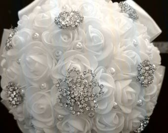 Sweet & Petite White Rose Bouquet