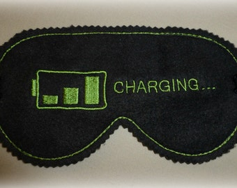 Embroidered Fleece Sleep Mask - Variety of designs and colors