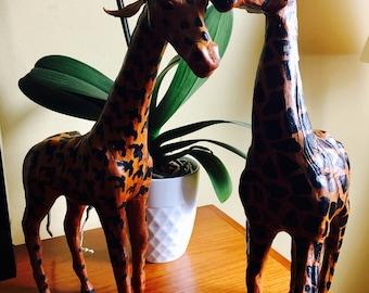 Leather giraffes