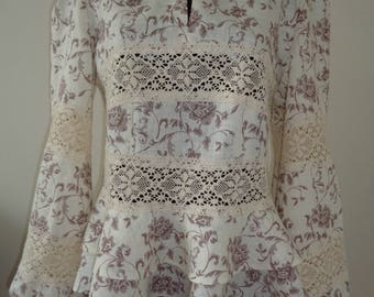 Women's linen blouse