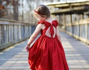 Saige Red and White Polka Dot Maxi Dress