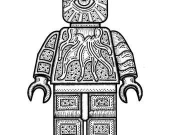 Abstract LEGO Man