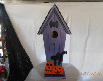 Recycled Halloween/Haunted Bird House