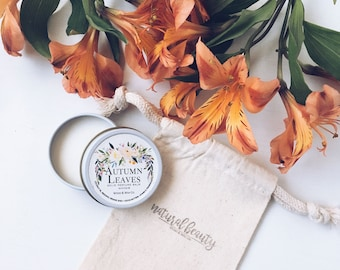 AUTUMN LEAVES Solid Perfume | Natural Perfume Balm