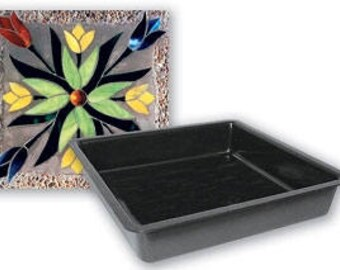 "8"" Square Stepping Stone Mold-Stepping Stone Molds-Mosaic Molds-Mosaic Supplies"