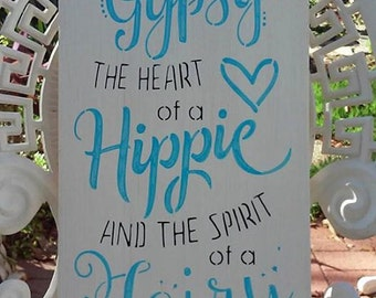 Art and collectibles, mermaid, inspirational, fairy, soul of a gypsy, minimalist, teen bedroom decor, home decor, beach sign, boho sign