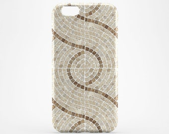 Beige Tile Phone Case iPhone 7 Marble iPhone 6 Case iPhone 7 Plus Geometric iPhone SE Case iPhone 6 Plus Case iPhone 4-5 Marble Galaxy Case