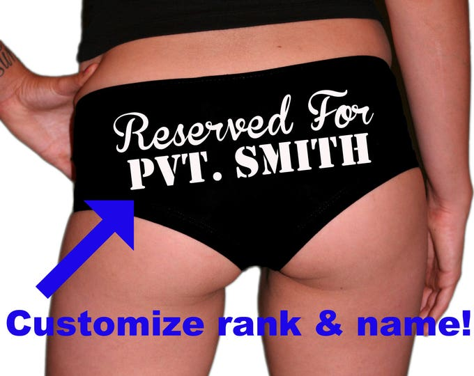 Custom Rank/Name Reserved For Military Underwear