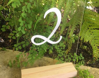 A5 Perspex Acrylic Table Numbers - With Stand