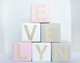 Large Wooden Blocks, Baby Blocks, Wooden Toys, Decorative Blocks, Nursery Decor, Personalized Baby Blocks, Custom Nursery