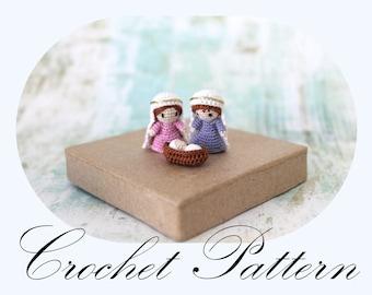 PATTERN: Nativity Pattern, Crochet Pattern, Amigurumi Tutorial, Holly Family, Crochet Nativity (English Only)