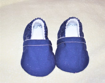 Navy Blue Baby Booties, Baby Booties, Navy Blue Moccasins, Baby Gifts