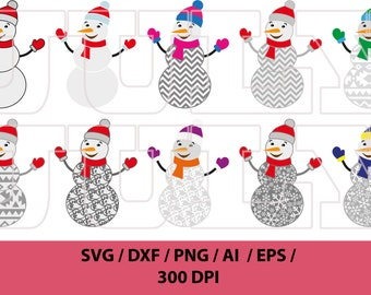 Snowman svg, Christmas SVG File, Snowman Cut File, Xmas SVG, Christmas svg, Snowman Clipart, dxf, eps, ai, png, svg
