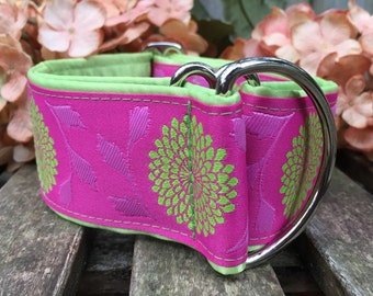 Pink and Lime Jacquard Martingale