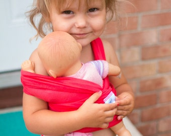 Doll baby carrier- Toddler Doll Carrier-Doll Baby Sling-Creative Play- Doll Sling-Doll Wrap-Many Colors Available