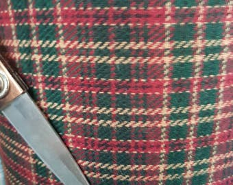 Scottish wool tartan fabric  ,material ideal for coats and suits.