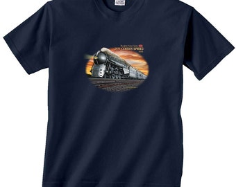 New York Central System 20th Century Limited Silver Locomotive Train T-Shirt