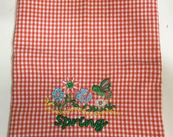 Spring Flower/Bird Kitchen Towel