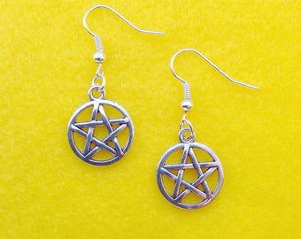 Pentagon charm earrings