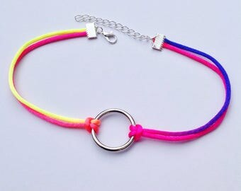 Double Rainbow Ring Choker