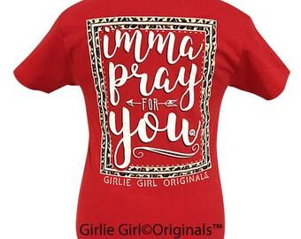 Girlie Girl Originals Pray For You Red Short Sleeve T-Shirt