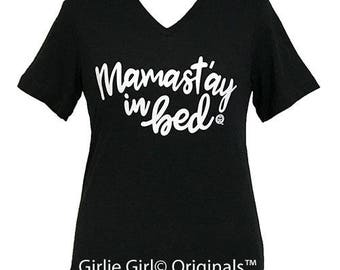 Girlie Girl Originals Mamast'ay Black Heather Bella Canvas V-Neck