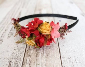 Headband  - Red/Yellow