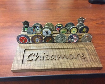 Personalized Challenge Coin Holder, Military Coin Holder, Coin Display, Challenge Coin, Army, Air Force, Marines, Navy, Coin Holder