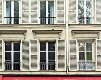 Paris Photography Print Wall Art Print French Cafe Wall Decor Windows