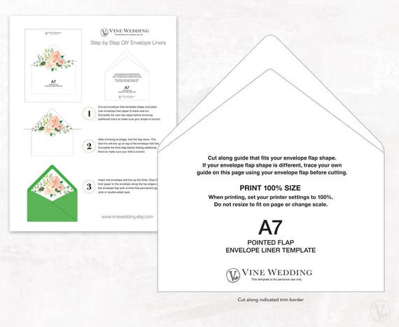 Envelope Liner And Belly Band Template Printable Envelope