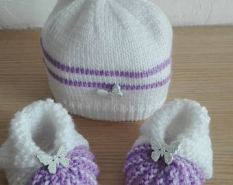 Hat and matching slippers