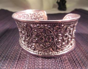 Bohemian Sterling Silver Cuff Bracelet