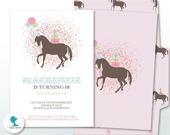 pony party invite  etsy, Party invitations