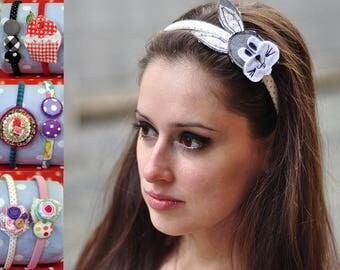 Handmade plastic Tiaras, Diadem, Lace, Polymer Clay, Gift for Kids, Gift for Girls