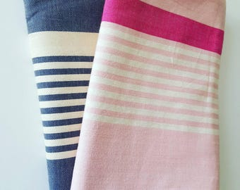 Fouta towel beach striped 100% cotton