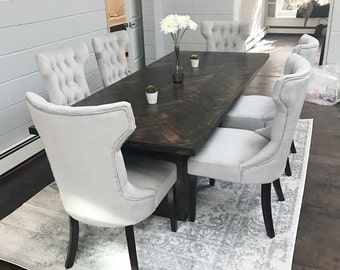 Herringbone Conference Table Dining Room