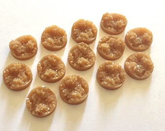 12mm Druzy Cabochons, caramel brown, jewelry making kit, earring set, diy jewelry, druzy studs, 12mm Druzy, cabochon, stud earrings, brown