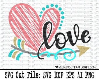 Valentine SVG, Love cupid arrow svg, wedding decor svg, valentine cut file, heart svg, cupid svg, socuteappliques, Wedding svg, arrow svg