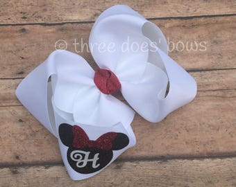 Minnie Mouse Bow - Minnie Mouse Hair Bow - Disney Hair Bow - Minnie Mouse Bows -Disney Bows - Minnie Bows