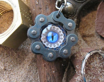 Handmade metalwork keyring