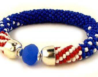 Liberty bead Crochet Bracelet kit by Ann Benson