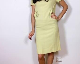 1950s Lemonade Office Dress