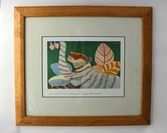 Vintage print Laura Fiume tiger butterfly