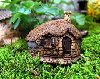 Fairy Garden  - Thatched Roof Fairy House 2 - Miniature